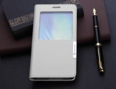 Leather Feel S View Case For Galaxy A7