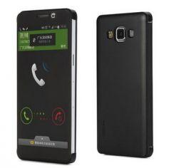 Samsung Galaxy A7 Rock Dot Smart View Leather Flip Case