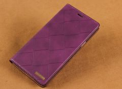 ID Wallet Scratch Resistant Woven Leather Case for Galaxy A7