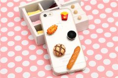 Cute Creative 3D Food Items Banana Baguette Fries Eggs Cookies Case for iPhone 6 4.7 inches