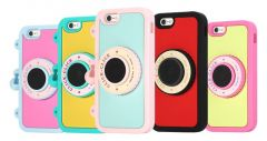 8thdays Click-Click Bluetooth Selfie Silicone Standing Camera Case with Strap for iPhone 6 4.7 inches