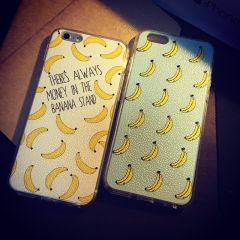 """Banana Design Monogram """"There's Always Money in the Banana Stand"""" iPhone6 Plus 5.5 inches"""