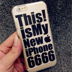 """Simple Design Pop """"This is my New iPhone 6666"""" Case for iPhone 6 4.7 inches"""