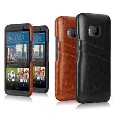 Imak Leather Card Holder Wallet Snap Case for HTC One M9
