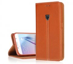 Real Leather Cardholder ID Case For Galaxy S6 Edge