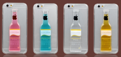Funky Liquid Alcohol Wine Glass / Beer Mug / Cocktail Bottle Case for iPhone 6 4.7 inches