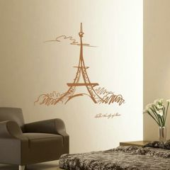"""""""Under The Sky of Paris"""" Eiffel Tower Wall Art Stickers Decal"""
