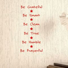 """""""Be Grateful"""" Quote of the Day Typography Wall Art Decal Stickers"""