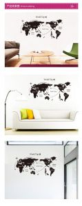 Travel Round the World Map Wall Art Sticker Decal